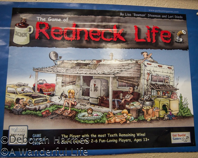 Redneck Life game for sale in a vintage shop in the USA