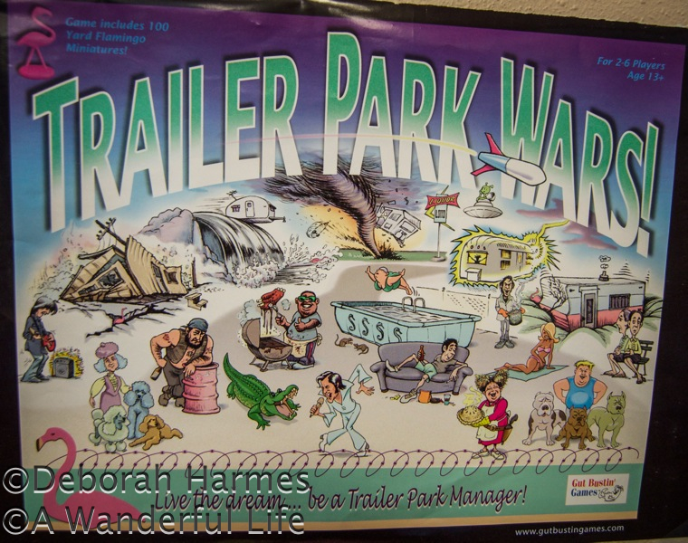 Trailer Park Wars game seen in vintage shop in the USA