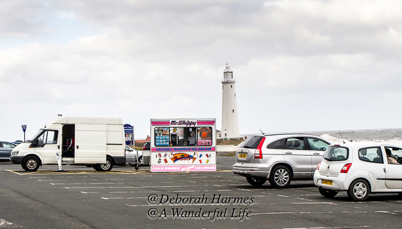 Even on the coldest winter day, British people seem to love to go to the seaside to sit in their heated cars, staring at the crashing waves in freezing temperatures, and eat an ice cream cone.