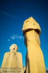 Standing Tall at Casa Mila - La Pedrera in Barcelona, Spain